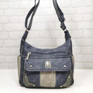 Чанта Еврика еко кожа, имитация на дънков плат - EvrikaShop