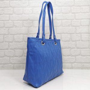 Дамска чанта Еврика синя от еко кожа - EvrikaShop