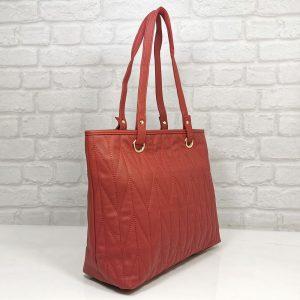 Дамска чанта Еврика червена от еко кожа - EvrikaShop