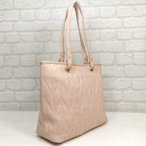 Дамска чанта Еврика розова от еко кожа - EvrikaShop