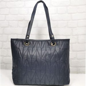 Дамска чанта Еврика тъмно синя от еко кожа - EvrikaShop