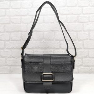 Дамска чанта Еврика черна малка от еко кожа - EvrikaShop