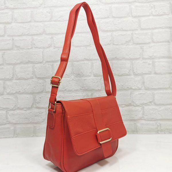 Чанта Еврика червена, малка от еко кожа - EvrikaShop