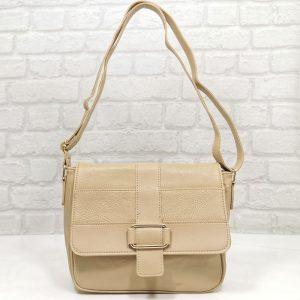 Дамска чанта Еврика бежова, малка - EvrikaShop