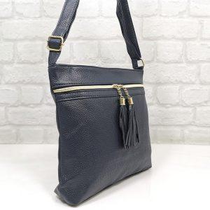 Чанта Еврика тъмно синя от еко кожа - EvrikaShop
