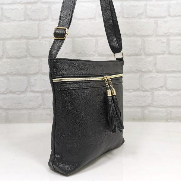 Спортно-елегантна чанта Еврика черна - EvrikaShop