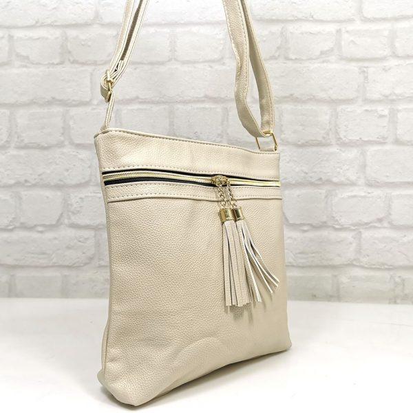 Спортно-елегантна чанта Еврика екрю - EvrikaShop