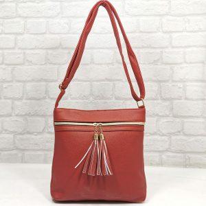 Спортно-елегантна чанта Еврика червена - EvrikaShop