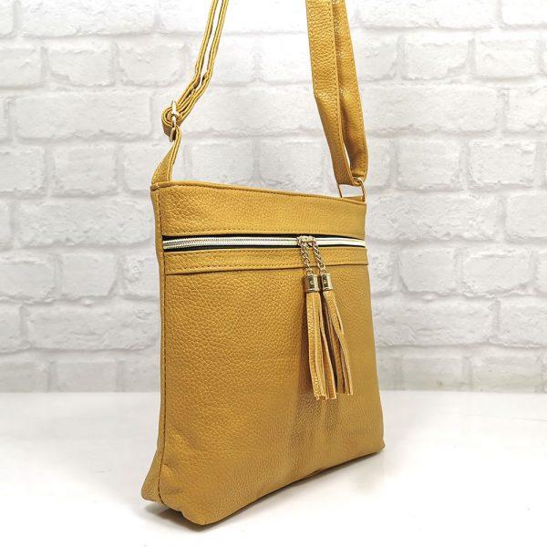 Спортно-елегантна чанта Еврика жълта - EvrikaShop