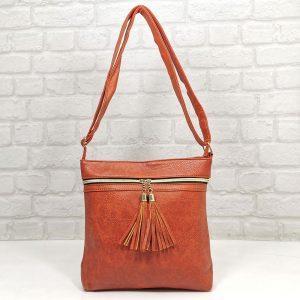 Спортно-елегантна чанта Еврика оранжева - EvrikaShop