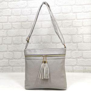 Спортно-елегантна чанта Еврика сива - EvrikaShop