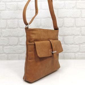 Спортно-елегантна чанта Еврика коняк, малка - EvrikaShop