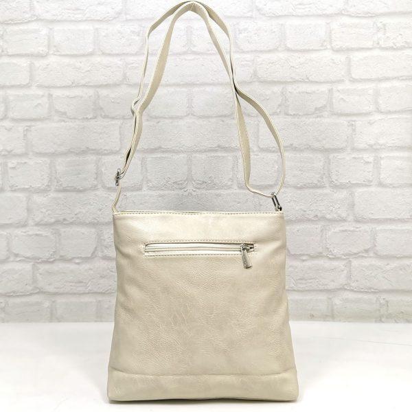 Спортно-елегантна дамска чанта Еврика екрю, малка - EvrikaShop