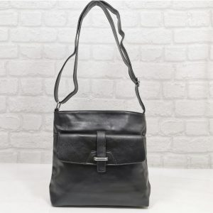 Чанта Еврика черна малка от еко кожа - EvrikaShop