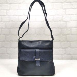 Спортно-елегантна чанта Еврика тъмно синя, малка - EvrikaShop