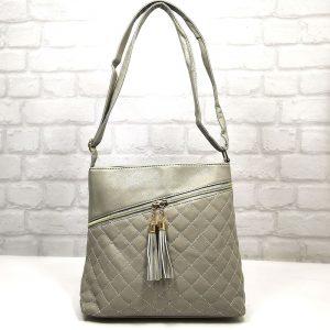 Спортно-елегантна чанта Еврика сива малка - EvrikaShop