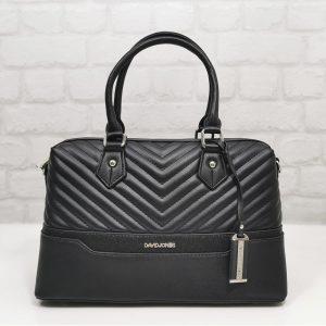 Елегантна чанта David Jones черна, внос от Франция - EvrikaShop