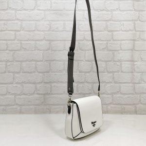 Дамска чанта David Jones бяла малка - EvrikaShop