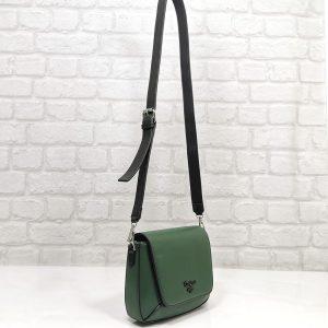 Дамска чанта David Jones зелена, малка - EvrikaShop