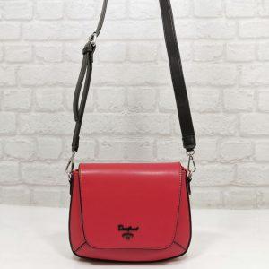 Дамска чанта David Jones червена, малка - EvrikaShop