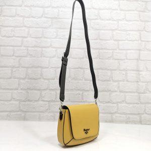 Дамска чанта David Jones жълта, малка в два цвята - EvrikaShop