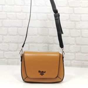 Дамска чанта David Jones охра, малка - EvrikaShop