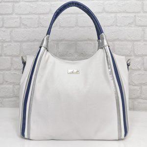 Чанта Еврика 101000Б бяла с тъмно синьо