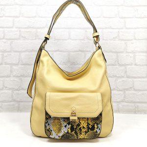 Дамска чанта Мария жълта от Италия - EvrikaShop