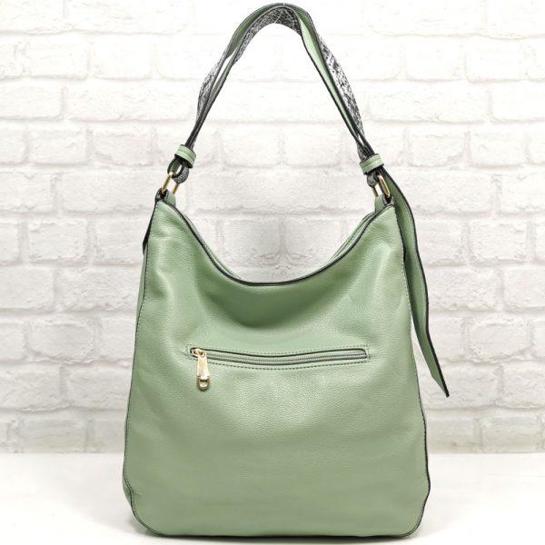 Дамска чанта Мария зелена от Италия - EvrikaShop