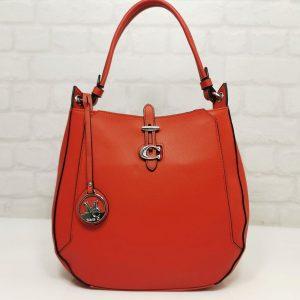 Италианска дамска чанта Мария С червена - EvrikaShop