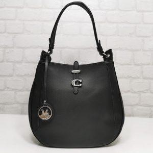 Дамска чанта Мария черна от Италия - EvrikaShop