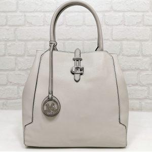 Чанта Мария С светло сива от Италия - EvrikaShop