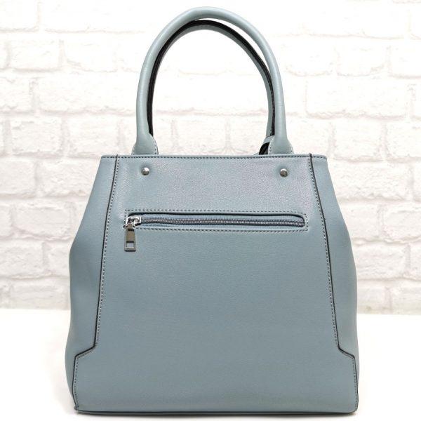Елегантна чанта Мария синя от Италия - EvrikaShop