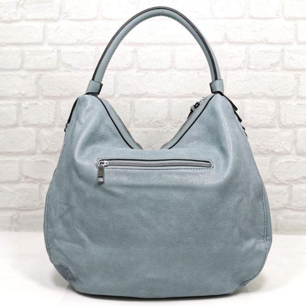 Дамска чанта Мария С синя от Италия - EvrikaShop