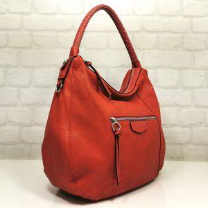 Спортно-елегантна чанта Мария С червена - EvrikaShop