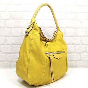 Чанта Мария С жълта тип торба от Италия - EvrikaShop