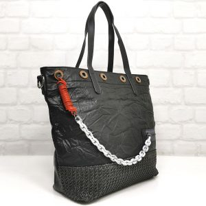 Чанта Мария С черна голяма от Италия - EvrikaShop