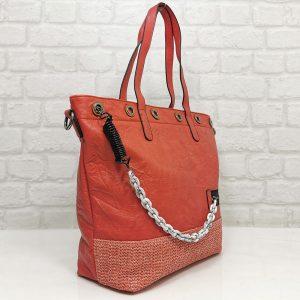 Чанта Мария С червена голяма от Италия - EvrikaShop