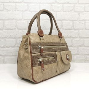 Дамска чанта Еврика бежова от еко кожа - EvrikaShop