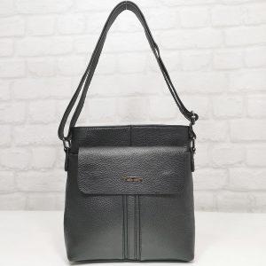 Мъжка чанта черна от естествена кожа - EvrikaShop