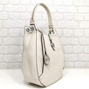 Елегантна чанта Мария С екрю от Италия - EvrikaShop
