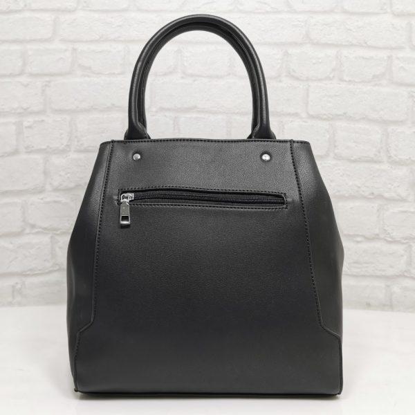 Елегантна чанта Мария С черна, внос от Италия - EvrikaShop