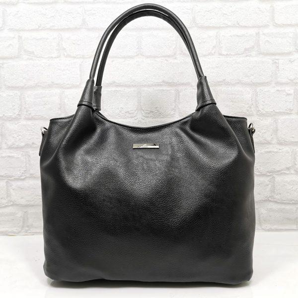 Спортно-елегантна дамска чанта Еврика черна - EvrikaShop