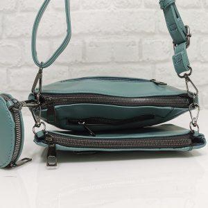 Чанта Мария С 351257СЗ синьо-зелена, малка