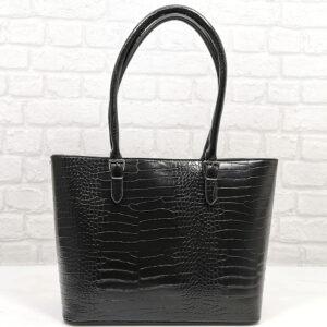 Чанта Еврика 502-1Н черна, лъскава Дамски чанти