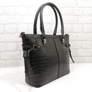Чанта Еврика 504Н черна, лъскава Дамски чанти