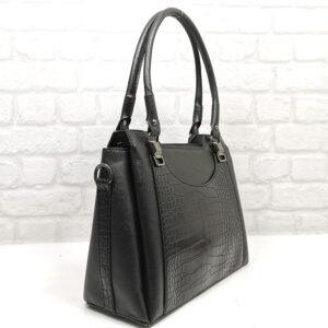 Чанта Еврика 505Н черна, с лъскава гарнитура Дамски чанти