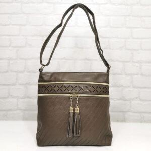 Чанта Еврика 64-212ТК тъмно кафява Дамски чанти
