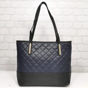 Чанта Еврика 64-88НС черна с тъмно синьо Дамски чанти