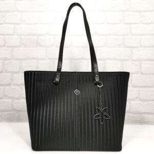 Чанта Еврика 785Н черна, лъскава, 3Д ефект Дамски чанти